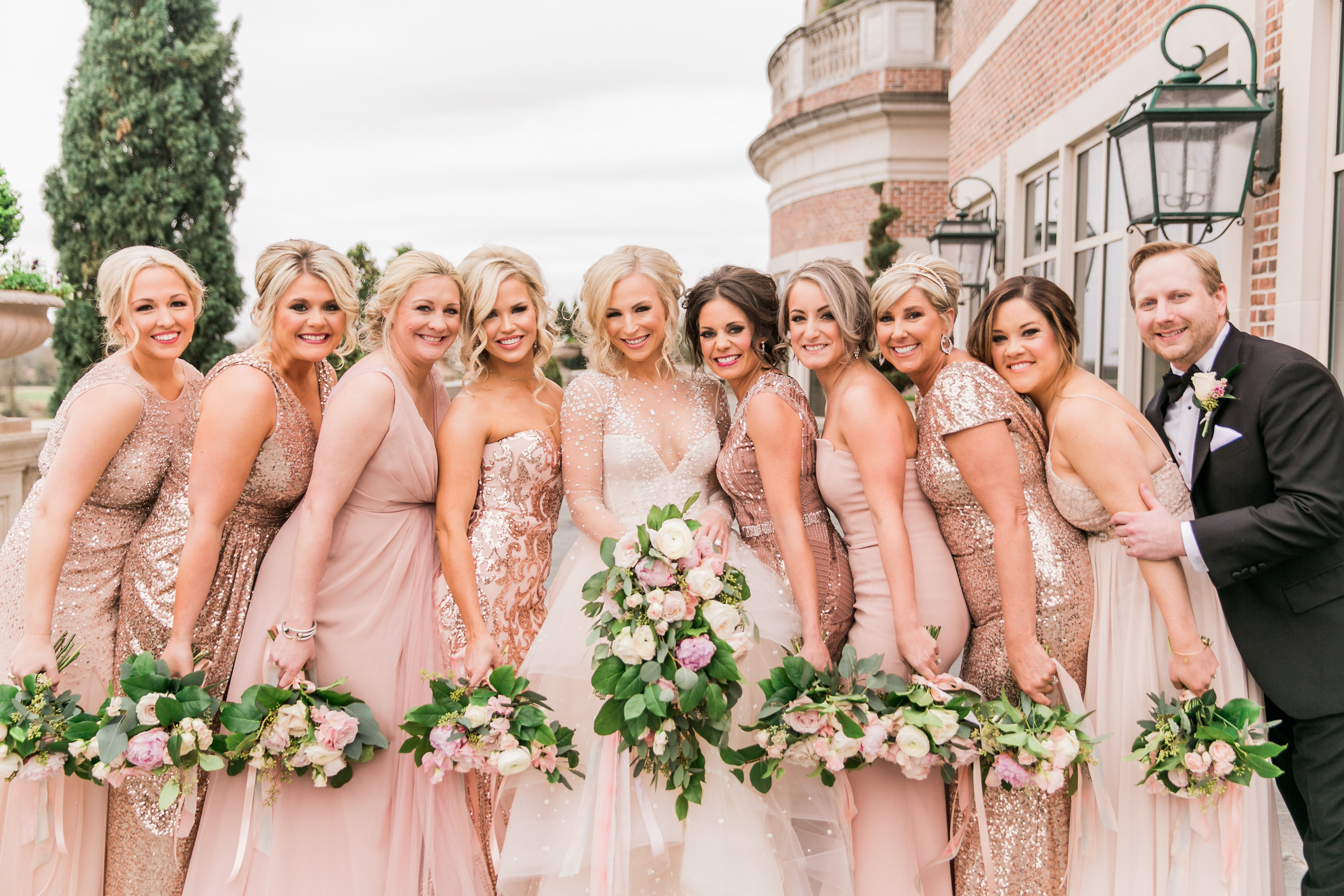 How to choose your bridesmaids bridal party randa carrabba now let me take a moment to brag on how gorgeous my girls and my gentleman looked on our wedding day the bridesmaids dresses were an assortment from ombrellifo Images